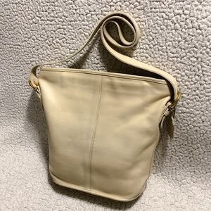 Coach Vintage Leather Bleeker Bucket Bag.